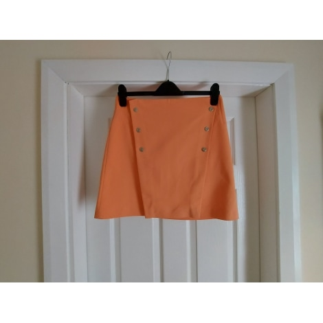 Jupe mi-longue ZARA Orange