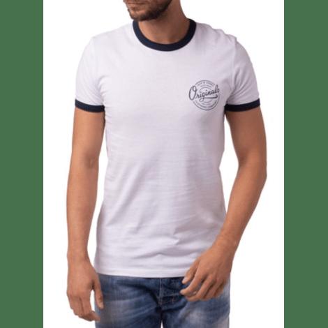 Tee-shirt JACK & JONES Blanc, blanc cassé, écru