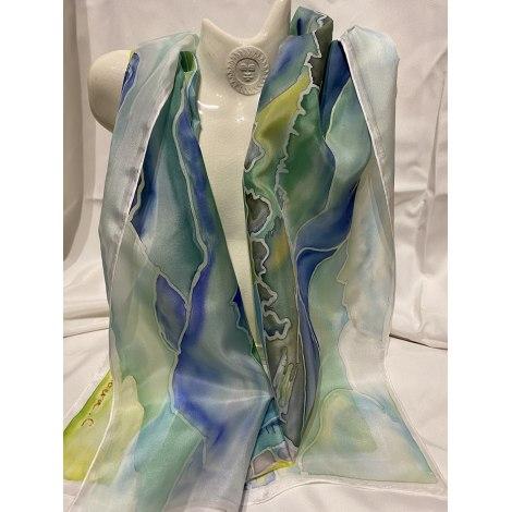 Foulard LES TRÉSORS DE MEYO Bleu, bleu marine, bleu turquoise