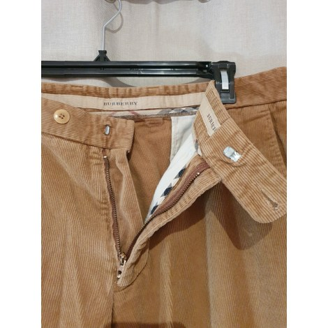 Pantalon droit BURBERRY Beige, camel