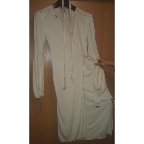 Robe mi-longue HERMÈS Blanc, blanc cassé, écru