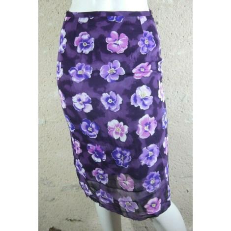 Jupe mi-longue BLEU 123 Violet, mauve, lavande