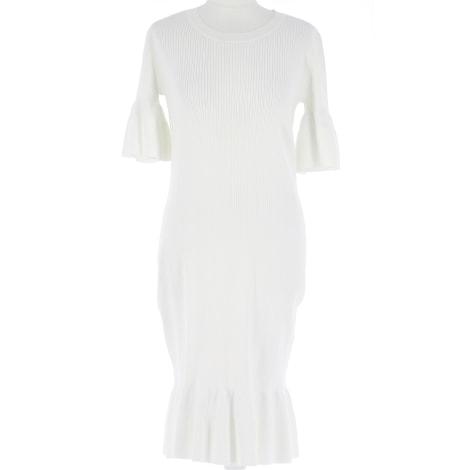 Robe mi-longue MICHAEL KORS Blanc, blanc cassé, écru