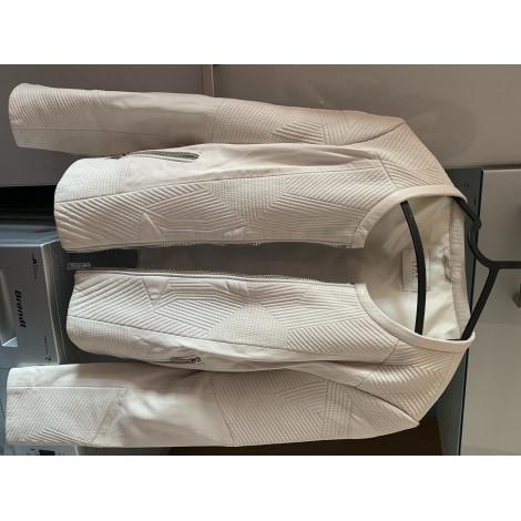 Veste en cuir IKKS Blanc, blanc cassé, écru