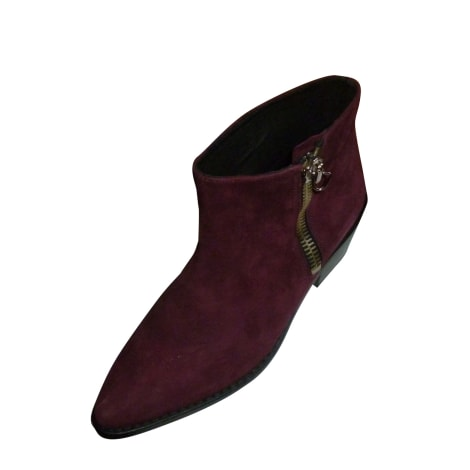 Bottines & low boots plates BA&SH Rouge, bordeaux