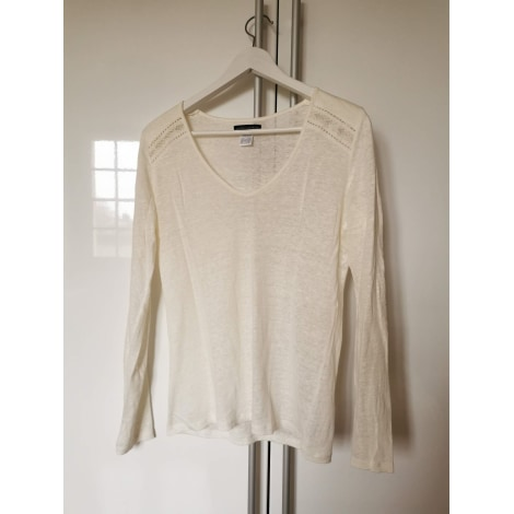 Top, tee-shirt LAURA CLÉMENT Blanc, blanc cassé, écru