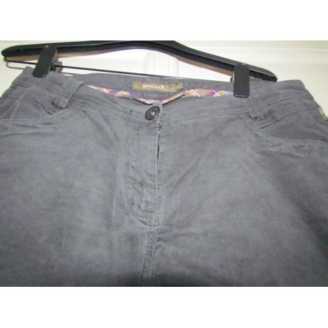 Pantalon droit SANDWICH Gris, anthracite