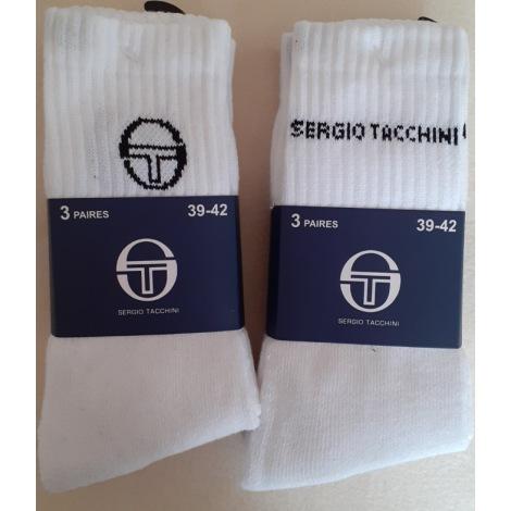 Chaussettes SERGIO TACCHINI Blanc, blanc cassé, écru