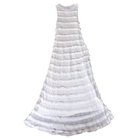 Robe longue CLAUDIE PIERLOT Blanc, blanc cassé, écru