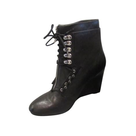 Bottines & low boots à compensés MAJE Gris, anthracite