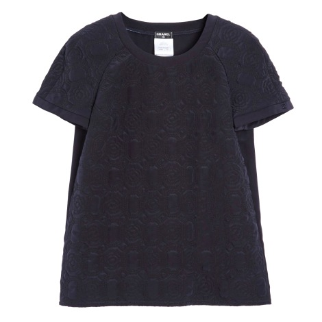 Top, tee-shirt CHANEL Bleu, bleu marine, bleu turquoise