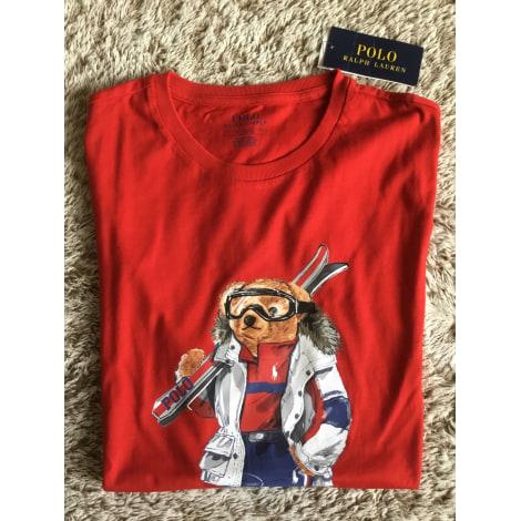 Tee-shirt RALPH LAUREN Rouge, bordeaux