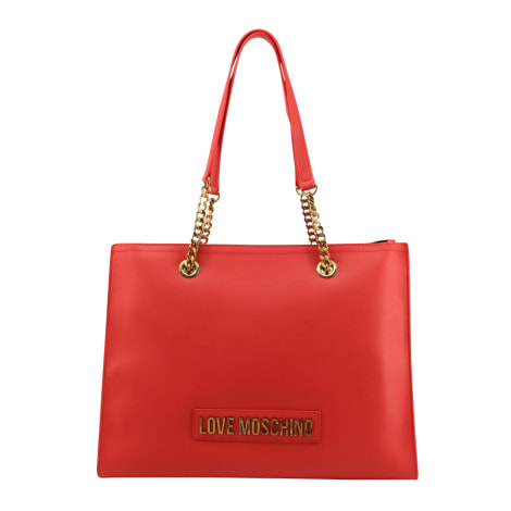 Sac XL en cuir LOVE MOSCHINO Rouge, bordeaux