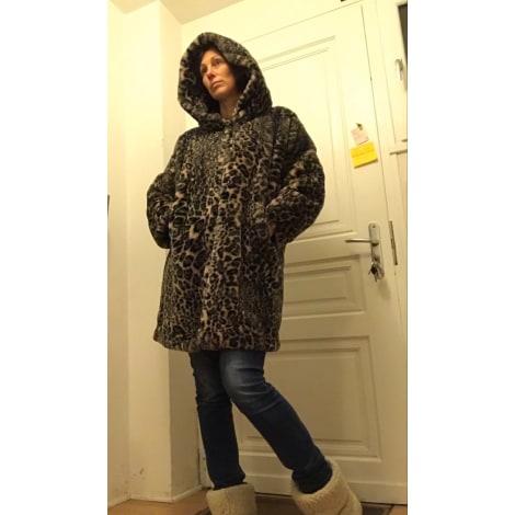 Manteau en fourrure LAUREN VIDAL Imprimés animaliers