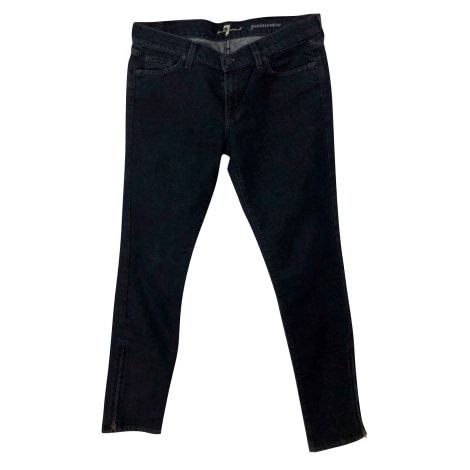 Jeans slim 7 FOR ALL MANKIND Bleu, bleu marine, bleu turquoise