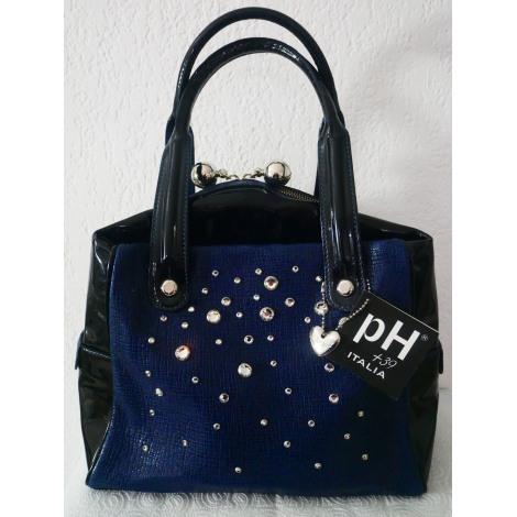 Sac à main en cuir PH+39 ITALIA BAG Bleu, bleu marine, bleu turquoise