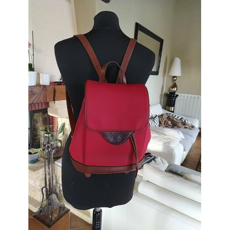 Backpack LACOSTE Red, burgundy