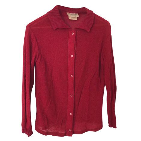 Gilet, cardigan COURRÈGES Rouge, bordeaux