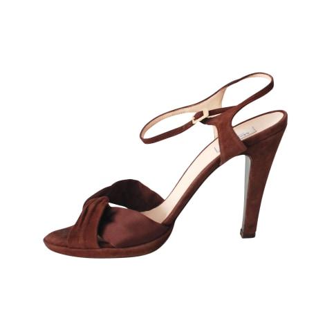 Sandales à talons MAX MARA Marron