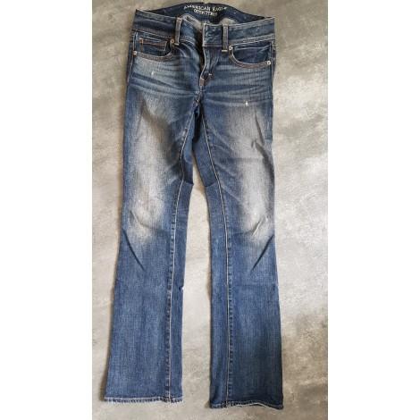 Pantalon carotte AMERICAN EAGLE OUTFITTERS Bleu, bleu marine, bleu turquoise