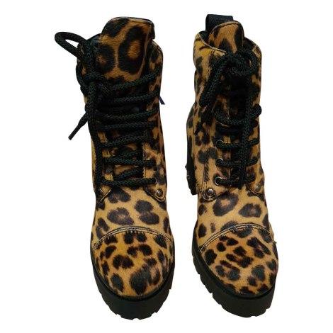 Bottines & low boots à talons MIU MIU Imprimés animaliers