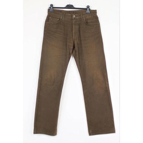 Jeans droit GANT Marron