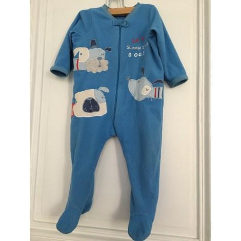 Grenouillère, babygros EARLY DAYS Bleu, bleu marine, bleu turquoise