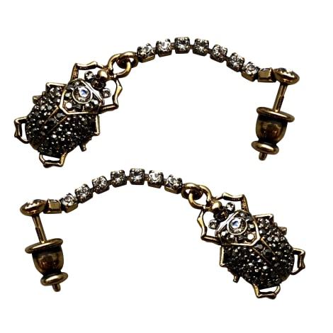 Boucles d'oreille ALEXANDER MCQUEEN Doré, bronze, cuivre