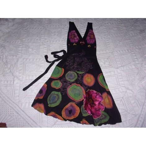 Robe mi-longue DESIGUAL Multicouleur