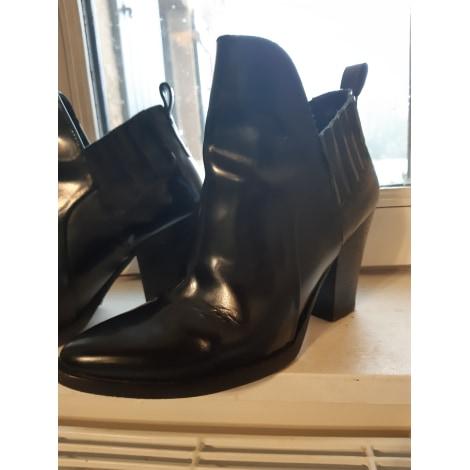 Santiags, bottines, low boots cowboy MAJE Noir