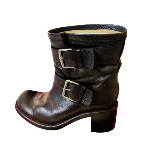 Bottines & low boots motards FREE LANCE Noir