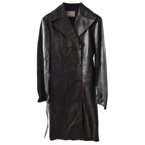 Manteau en cuir FAÇONNABLE Marron