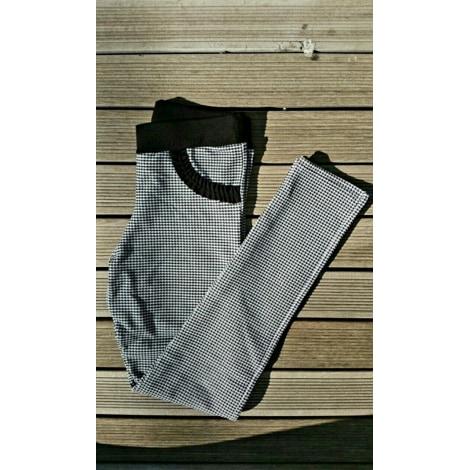 Pantalon CALZEDONIA Pied de poule noir et blanc