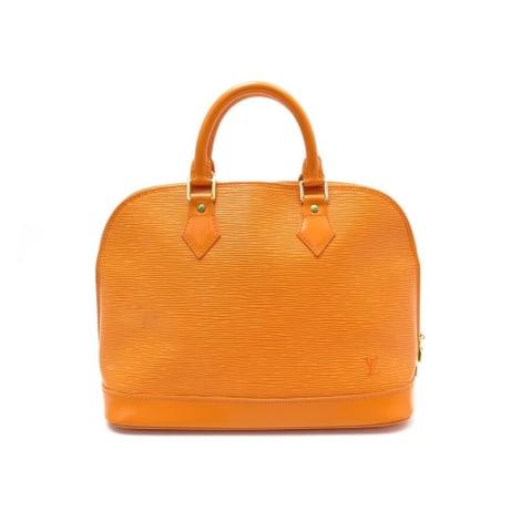 Sac à main en cuir LOUIS VUITTON Alma Orange