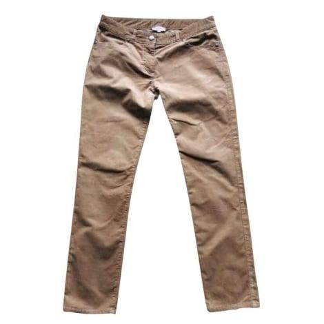 Pantalon droit CLAUDIE PIERLOT Beige, camel