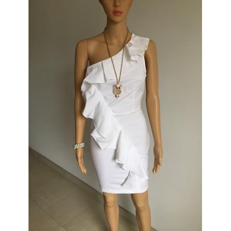 Robe courte MORGAN Blanc, blanc cassé, écru