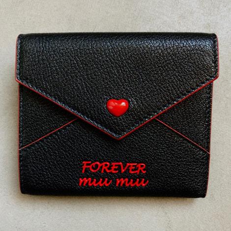 Portefeuille MIU MIU Noir et rouge