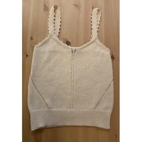 Top, tee-shirt MANGO Blanc, blanc cassé, écru