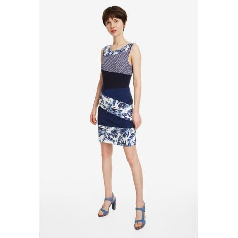Robe courte DESIGUAL Bleu, bleu marine, bleu turquoise
