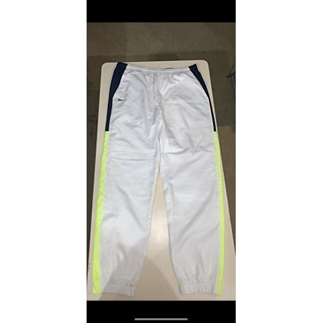 Pantalon de survêtement LACOSTE Blanc, blanc cassé, écru