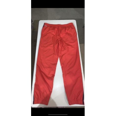 Pantalon de survêtement LACOSTE Rouge, bordeaux