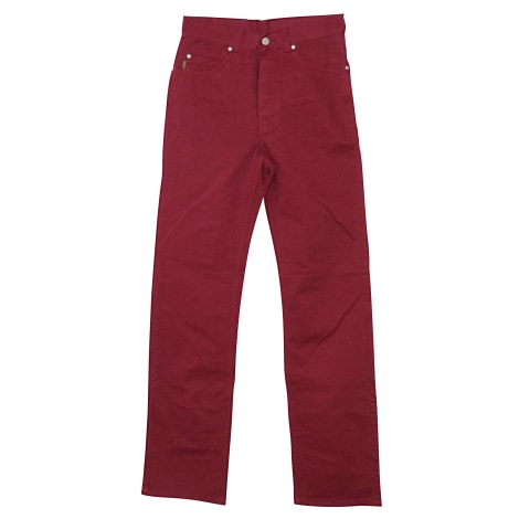Pantalon droit KENZO Rouge, bordeaux