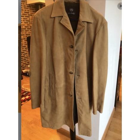 Manteau en cuir PETER HADLEY Beige, camel
