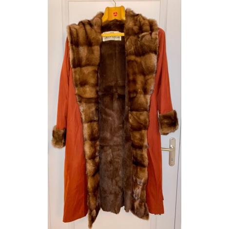 Manteau en fourrure REVILLON Rouge, bordeaux