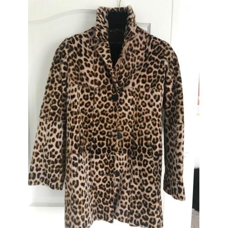 Manteau en fourrure NOUR HAMMOUR Imprimés animaliers