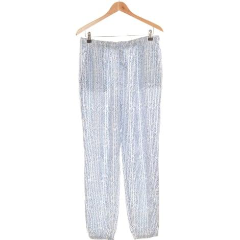 Pantalon droit UNIQLO Bleu, bleu marine, bleu turquoise
