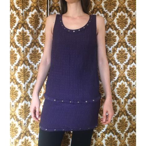 Top, tee-shirt BA&SH Violet, mauve, lavande