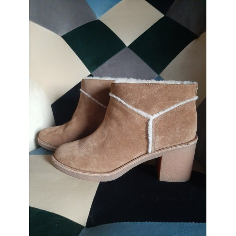 High Heel Ankle Boots UGG Brown