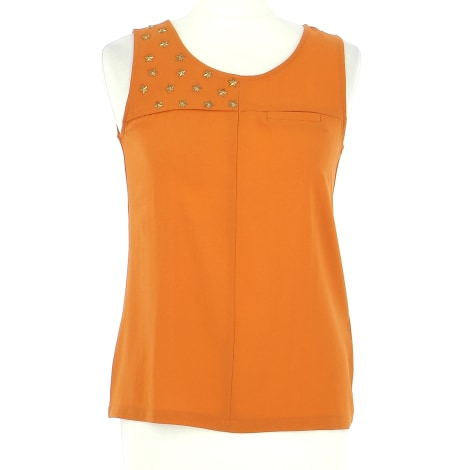 Top, tee-shirt SEE U SOON Orange