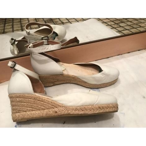 Sandales compensées SAN MARINA Blanc, blanc cassé, écru